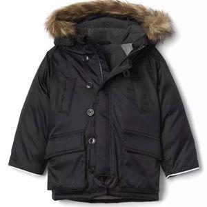 Baby gap winter parka fur hood water resistant